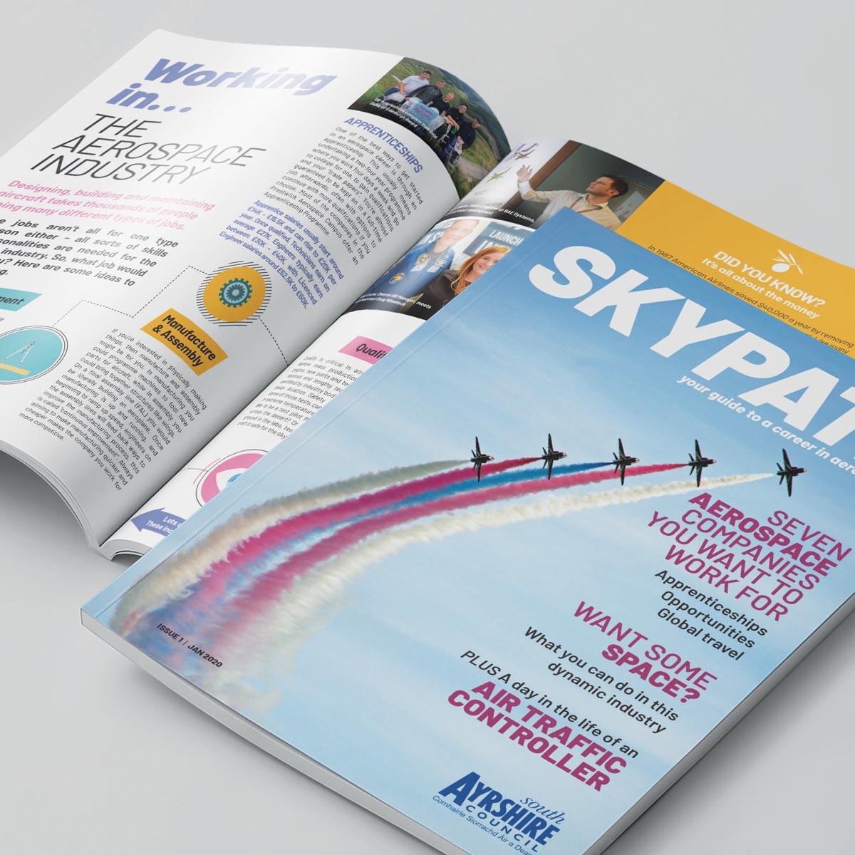 Skypath magazine publication design