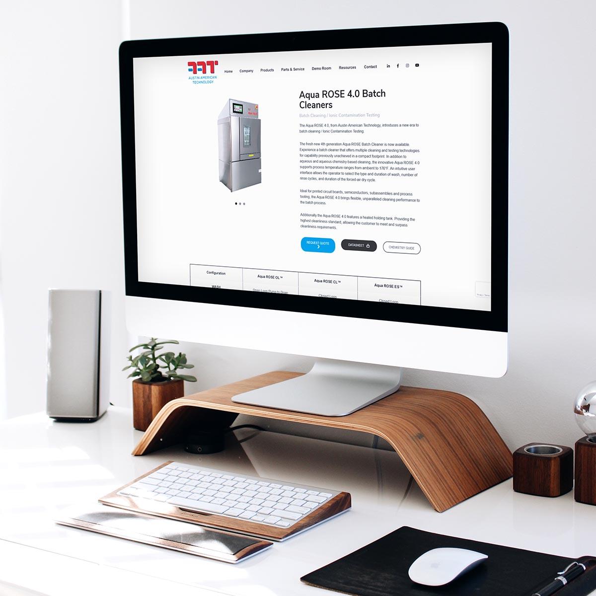 Austin American Technologies Website Design Scotland